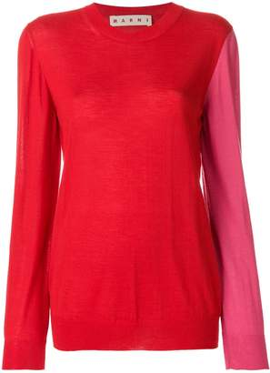 Marni colour blocked jumper