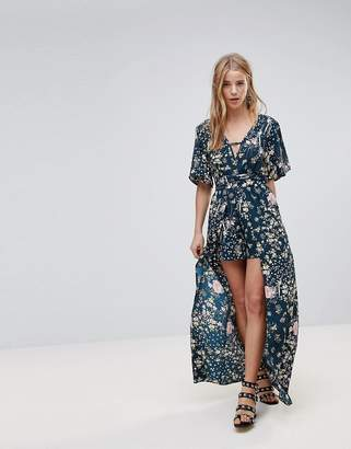 Band of Gypsies Floral Maxi Dress With Shorts