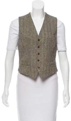 Ralph Lauren Linen Button-Up Vest w/ Tags