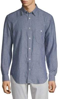 7 For All Mankind Striped Flannel Button-Down Shirt