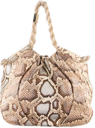 Christian Louboutin  Christian Louboutin Snakeskin Shoulder Bag