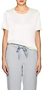 Raquel Allegra Women's Textured Satin T-Shirt - Neutral