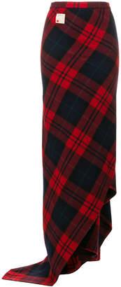 DSQUARED2 tartan maxi skirt