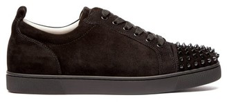 Christian Louboutin Louis Junior Suede Studded Trainers - Mens - Black