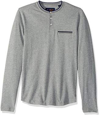 Original Penguin Men's Long Sleeve Sueded Tipped Henley