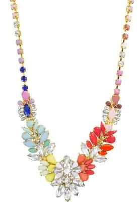 Steve Madden Crystal Stone Bib Necklace