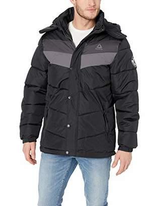 Reebok Men's Heavy Weight Hooded Bubble Jacket