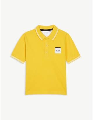 BOSS Logo pique cotton polo shirt 4-16 years