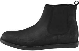 Original Penguin Mens London Chelsea Wax Suede Boots Black
