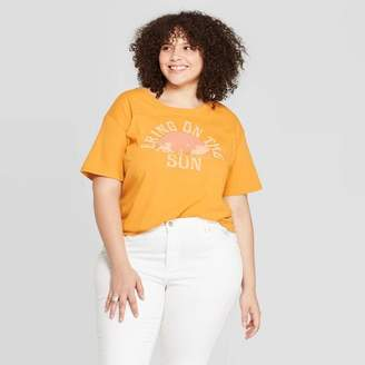 Disney Women's The Lion King Plus Size Short Sleeve Bring on the Sun Graphic T-Shirt (Juniors') - Yellow