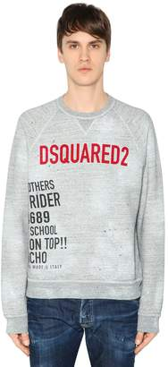 DSQUARED2 Logo Print Vintage Cotton Sweatshirt