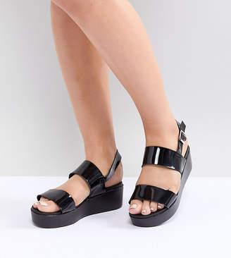 Park Lane Wide Fit Flatform Sandals