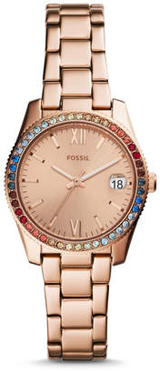 Fossil Scarlette Three-Hand Rose Gold-Tone Stainless Steel Watch