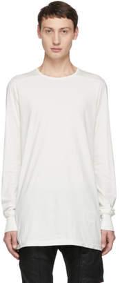 Rick Owens White Level Long Sleeve T-Shirt