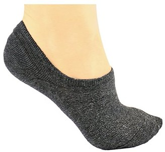 DL furniture 6 Pairs Cotton No Show Athletic Socks Thin Loafers Non Slip Boat Liners | Dark gray