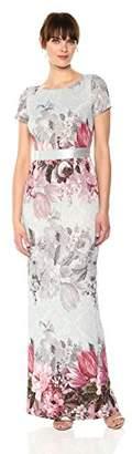 Adrianna Papell Women's Long Floral Dress