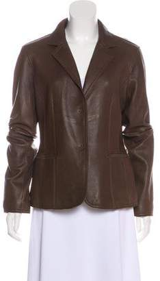 MICHAEL Michael Kors Notch-Lapel Leather Jacket