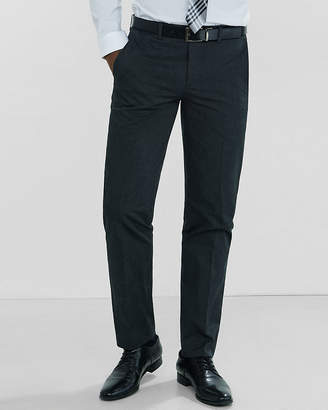 Express Slim Heathered Dark Gray Dress Pant