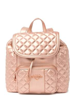 Love Moschino Borsa Quilted Metallic Backpack