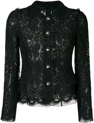 Dolce & Gabbana lace embroidered fitted jacket
