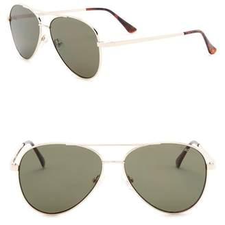 Kenneth Cole Reaction 57mm Aviator Sunglasses