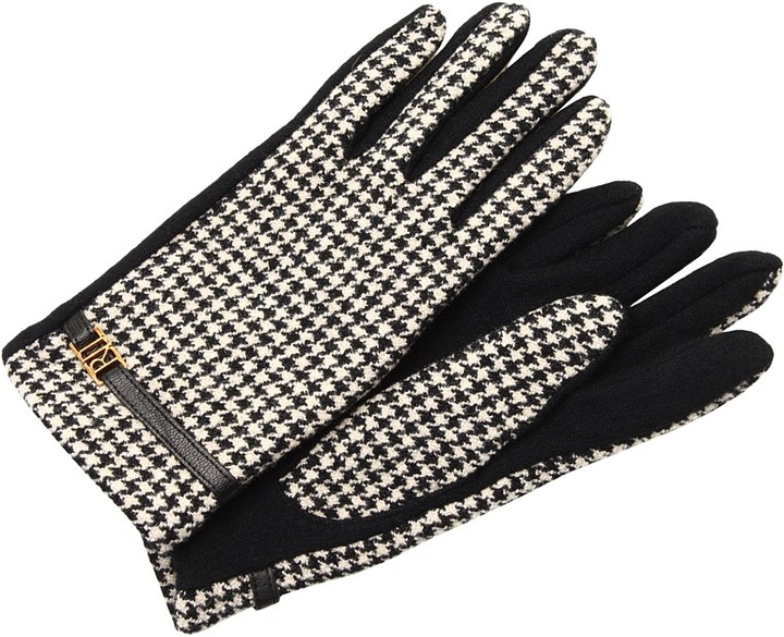 Lauren Ralph Lauren Menswear Belt Glove (Black Houndstooth/Black) - Accessories