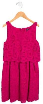 Ralph Lauren Girls' Tiered Guipure Lace Dress
