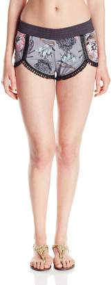 Maaji Women's Noir Fringes Shorts Cover Up