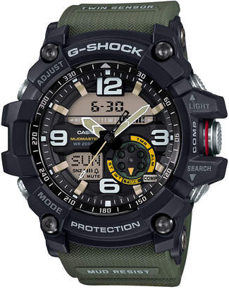 G-Shock Men's Analog-Digital Mudmaster Army Green Resin Strap 56x55mm GG1000-1A3 $320 thestylecure.com
