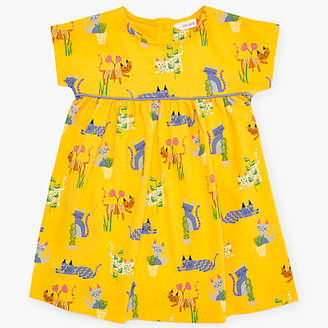 John Lewis & Partners Baby Cats Dress, Yellow