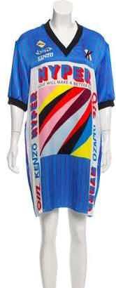 Kenzo Graphic Silk Dress