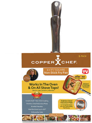 Impulse As Seen on TV Copper Chef Square 2-pk Fry Pan Set