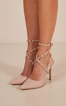 Showpo Verali - Hvar heels in blush micro - 8 Verali