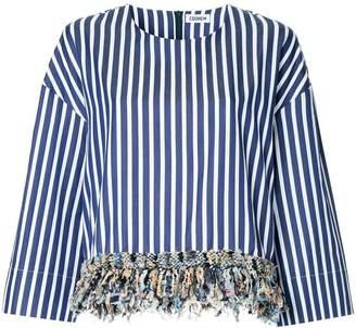 Coohem (コーヘン) - COOHEM tweed fringe shirt