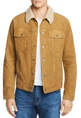 AG Jeans Faux Shearling-Trimmed Corduroy Jacket