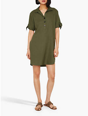 57be66a67cf Warehouse Oversized Button Front Shirt Dress
