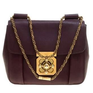Chloé Elsie Purple Leather Handbag