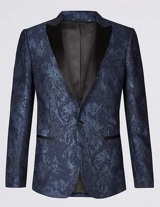 Marks and Spencer Slim Fit Patterned Jacket