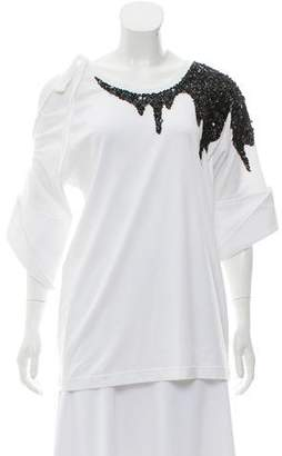 Monse Cold-Shoulder Embellished Top