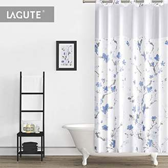 Lagute SnapHook Hookless Shower Curtain W Snap In Liner