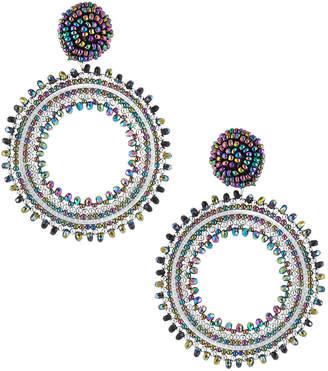 Panacea Circular Seed Bead Drop Earrings