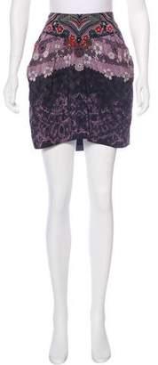 Tibi Silk Mini Skirt