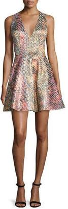 Alice + Olivia Varita Printed Fit-and-Flare Dress, Multicolor $440 thestylecure.com