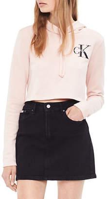 Calvin Klein Jeans Cropped Hooded Sweatshirt