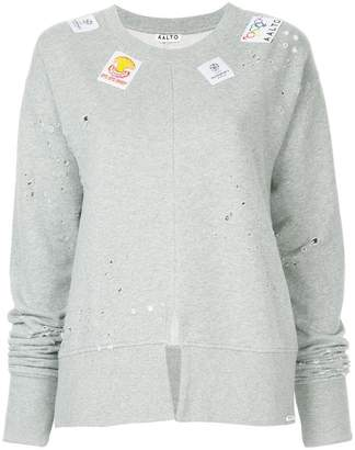 Aalto distressed patch sweatshirt