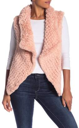 Bagatelle Faux Fur Knitted Vest
