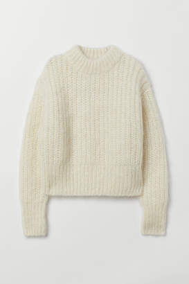 H&M Chunky-knit Wool Sweater - White