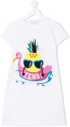 Fendi Pineapple print T-shirt dress