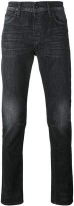 Hudson straight leg faded jeans