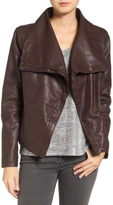 Levi's ® Cowl Neck Faux Leather Jacket $150 thestylecure.com